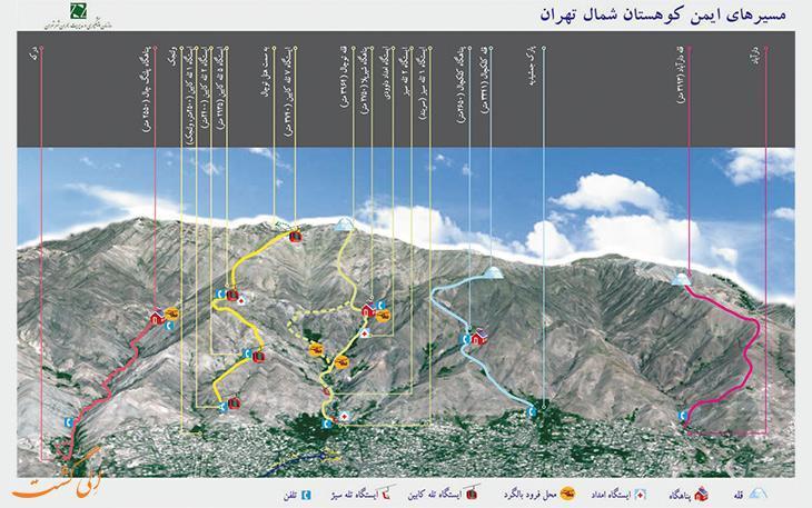 آشنایی با بهترین مسیرهای کوهنوردی در تهران