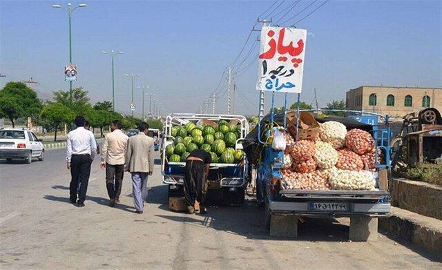 ساماندهی وانت بارهای عرضه میوه و تره بار در بیرجند