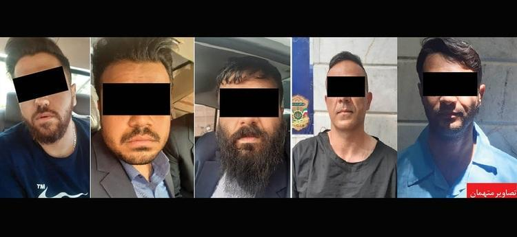(عکس) این 5 مرد گروگانگیران طلایی مشهد هستند!