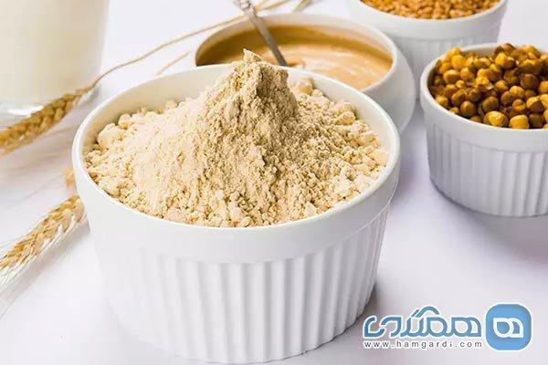 پودر پروتئین بدنسازی خانگی برای عضله سازی