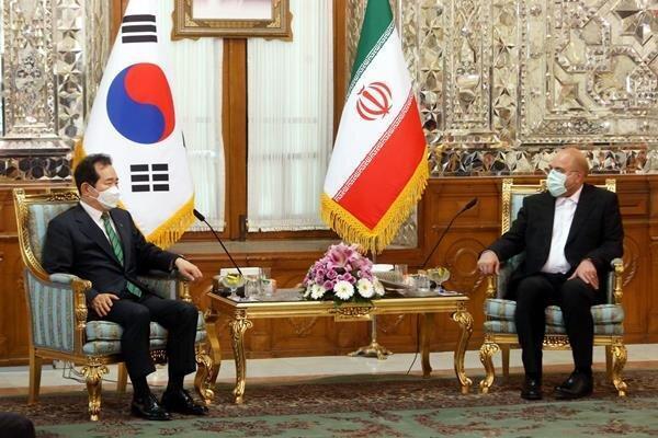 نقدها صریح قالیباف خطاب به نخست وزیر کره جنوبی؛ جایگاهی درمناسبات مالی ایران ندارید
